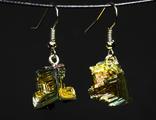 Серьги из кристаллов висмута