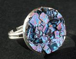Кольца с кристаллами висмута